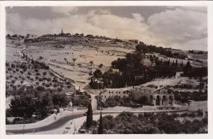 Jordan Jerusalem Mount Of Olives Real Photo