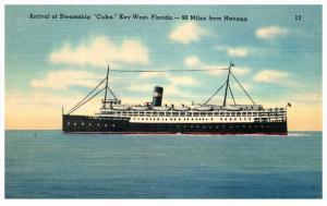 17434 Steamship Cuba arriving  Florida