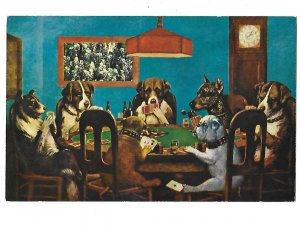 Seven Dogs Playing Poker Lots of Humour in the Details