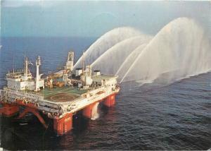Emergency support vessel IOLAIR in BP`s Forties oilfield postcard