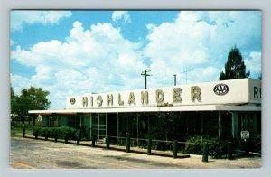 Lake Wales FL, Highlander Restaurant, Street View, Chrome Florida Postcard