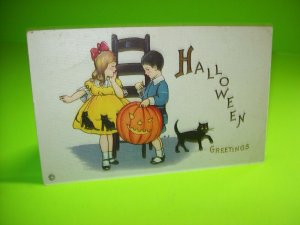 Vintage Halloween Postcard Original Stecher Mary Price Antique Series 400 D