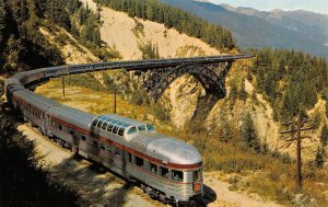 Canadian Pacific Railroad Stainless Steel Streamliner Train Vintage Postcard