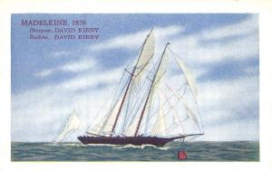 1876 Madeleine The 4th Race For The America's Cup Long Island City NY Postcard