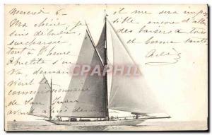Postcard Old Boat Sailboat