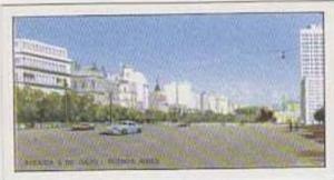 J J Beaulah Vintage Trade Card Marvels Of The World No 12 Avenida 9 de Julio ...