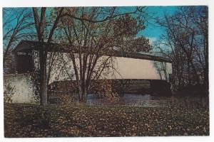 Covered Bridge Lancaster PA Pinetown Rd US 222 Postcard
