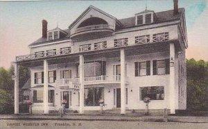 New Hampshire Franklin Daniel Webster Inn Handcolored Albertype