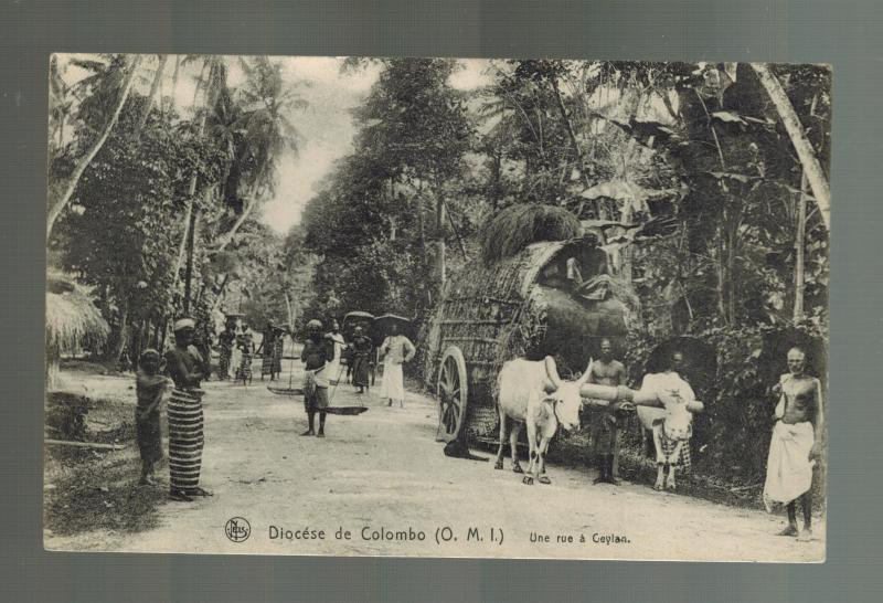 1913 Belgium Liege RPPC Postcard Cover to Langogne Diocese of Colombo Ceylon