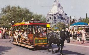 Horse Drawn Streetcar, Main Street USA Plaza at Matterhorn Mountain, Disneyla...