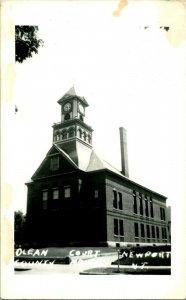Vtg Cartolina Ansco RPPC NEWPORT Vermont - Olean Contea Tribunale Casa