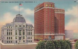 Rhode Island Providence City Hall and Biltmore Hotel