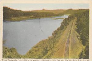 Railroad Tracks, Restigouche River East From Morrissey Rock, N.B., Canada, 19...