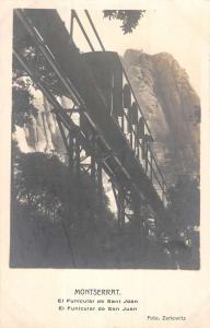 Montserrat San Juan Trolley Train Real Photo Antique Postcard K85300