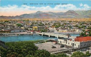 #2279. Birds-Eye View Of Ciudad Juarez, Mexico Linen Postcard