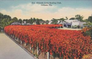 Florida Orlando The Orlando Lawn Bowling Club Surrounded By Hedge Of Flame Vi...