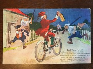 1910s Corbin Coaster Brake Bike Advertisment - Paul Revere's Ride