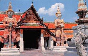 Inside Ground of Wat Phra Keo, Emerald Buddha Temple Bangkok Thailand Postal ...