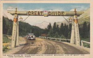 The Great Divide on Trans Continental Highway Boundary line of Banff and Yoho...