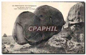 Old Postcard Brittany Picturesque Bizarre Ploumanach Rocks The Dogue