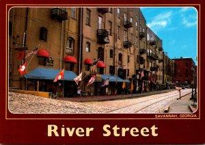 Georgia Savannah River Street Once A Thriving Cotton Port