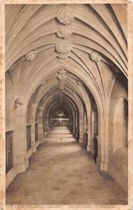 Manchester, The John Rylands Library, Cloistered Corridor