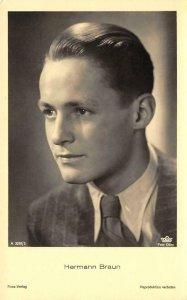 HERMANN BRAUN German Actor Movie Star Ross Verlag ca 1930s Vintage Postcard