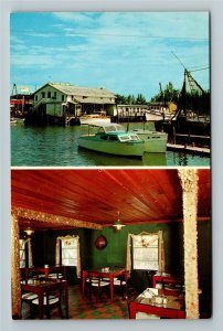 Naples FL- Florida, Fishhouse Dining Room, Fishes, Chrome Postcard