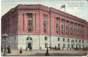The New Post Office Los Angeles California 1910 Period Clothes Horse and Buggy