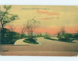 Divided-Back ROAD OR STREET SCENE Chicago Illinois IL hJ5793