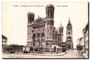 Lyon Basilica of Our Lady of Fourviere -Vue d & # 39ensemble- Old Postcard