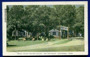 Gulfport Mississippi Gulf Haven Motor Court old postcard