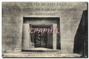 Old Postcard The Monument of the Bayonet Trench Porte d & # 39entree Army