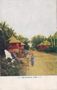 Philippines Cebu San Nichola Street Scene 1910