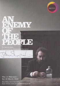 John Shrapnel An Enemy Of The People Henrik Ibsen Hand Signed Theatre Flyer