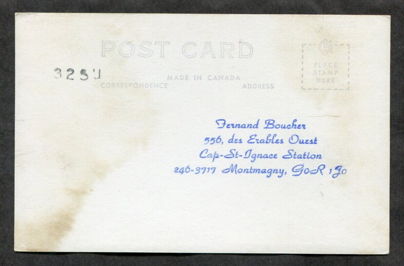3437 - MONTMAGNY Quebec 1940s Post Office Real Photo Postcard