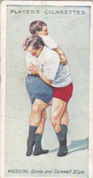 Cigarette Card Player and Sons Wrestling & Ju-Jitsu 1913 No 19 Double Lock