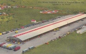 POMPANO BEACH, Florida, 1930-40s; Winter Vegetable Market
