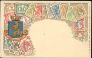 Netherlands, STAMP Postcard, Coat of Arms (ca. 1899)