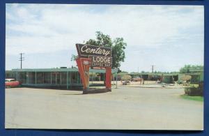 Abilene Texas tx Century Lodge old chrome postcard