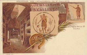 AS: R. Cavi, Souvenir Des Catacombes De St. Calliste, Via Appia Antica 33, Ro...