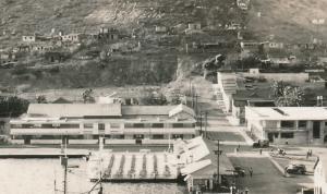 RPPC Harbor Scene at Guaymas, Mexico - Cerro y muetle