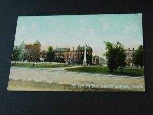 C.1900-10 S.E. Corner Public Square Mt. Vernon, Ohio Postcard