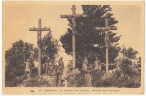 France, LOURDES, Le Calvaire, Mort de Notre Seigneur, unused Postcard