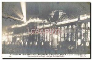 Old Postcard Automobile Exhibition decennale of & # 39automobile November 190...