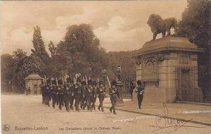 Belgium Brussels Laeken Les Grenadiers devant le Chateau Royal 1908