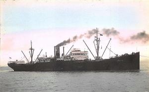 Vara Cargo Steam Ship Tinted Real Photo RPPC Postcard