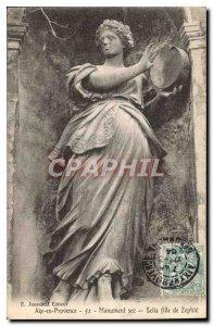 Old Postcard Aix en Provence Monument Sec Seile daughter Zephte