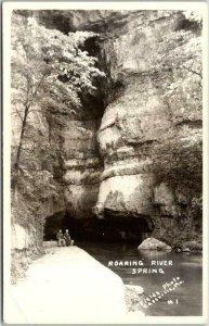 Cassville, Missouri RPPC Photo Postcard Roaring Spring River State Park c1950s
