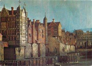 Postcard British England London old bridge  model j.b. thorp medieval drawbridge